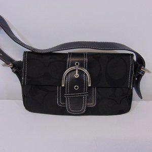 Black Signature Coach handbag shoulder bag